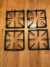 4 Gas Stove Top Burner Support Grates 4 Pack  Free Shipping Heavy Duty 9X9