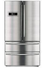 Smad 20 7 cu ft 4Door French Door Refrigerator Stainless Steel Family Hub Fridge