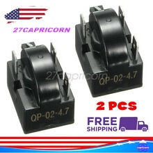 3Pin QP 02 4 7 Refrigerator Start Relay PTC for Danby Chef Kenmore 4 7 Ohm 2pcs
