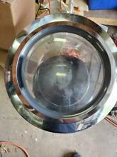 WHIRLPOOL FRONT LOAD WASHER WHOLE DOOR GLASS ASSEMBLY W  DOOR HINGE STRIKE