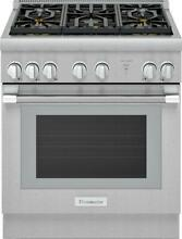 Thermador Pro Harmony PRG305WH 30 Inch Pro Style Convection Gas Range