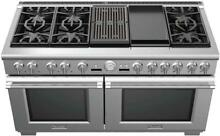 Thermador Pro Grand PRD606RCG 60  Convection Dual Fuel Range 6 Star Burners