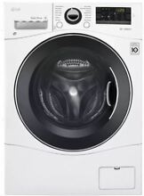 LG WM3488HW 2 3 cu ft  Front load Steam Washing Machine   White