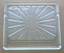Recycled Microwave Oven Glass Plate   Tray 15 1 8 X 13 5 8