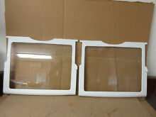 GE Refrigerator Glass Shelf Assembly Lot of 2 Part   WR71X10296