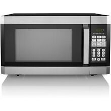 Hamilton Beach 1 6 Cu  Ft  Digital Microwave Oven  Stainless Steel