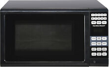 Microwave Oven Black Kitchen Countertop Small Compact Dorm Home Cook Heat Meal
