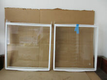 Kenmore Frigidaire Refrigerator Sliding Shelf Lot of 2 Part   240350117