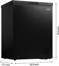 Compact Chest Freezer Black 5 cu ft Energy Efficent Home Business Food Storage