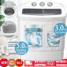 Mini Portable Washing Machine Spin Wash 18 7Lbs Twin Tub Compact Laundry Washer