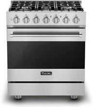 Viking 3 Series 30  5 Sealed Burners Freestanding Gas Range RVGR33025BSS S Steel