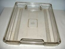 International Harvester Refrigerator Vintage Heavy Glass Meat Tray 14 3 4  x 12