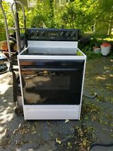 Frigidaire Black   White Electric Stove  Good Working Condition