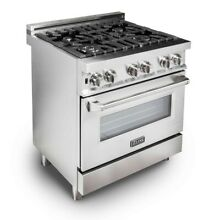 ZLINE 30  Stainless Steel 4 0 cu ft  4 Gas Burner Electric Oven Range RA30