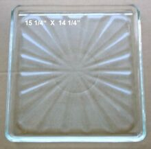 Vintage Pre Owned Microwave Oven Square Glass Tray 15 1 4  X 14 1 4