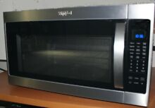 WHIRLPOOL STAINLESS STEEL OVER THE RANGE MICROWAVE  COMPLETE NO BOX