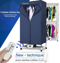1000W Portable Electric Clothes Dryer Laundry Wardrobe Fast Heat Drying Machine