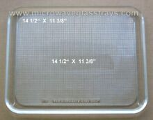 Vintage Recycled Microwave Oven Glass Plate   Tray 14 1 2  X 11 3 8