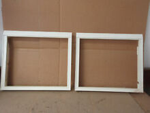 Kenmore Whirlpool Refrigerator Pan Frame Lot of 2 w  Yellowing Part   2209698