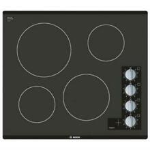 BOSCH 500 Series 24  Framless Control Black Glass Electric Cooktop NEM5466UC IMG