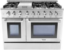 NIB Thor Kitchen 48  Commercial Convection Professional Gas Range HRG4808U S S
