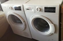 Bosch 300 Series Stackable Washer   Ventless Dryer Set Front Load white