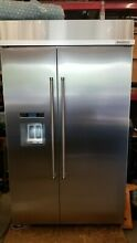 KitchenAid KBSD608ESS 48  Stainless Side by Side Refrigerator