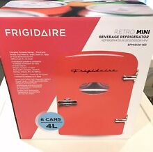 Frigidaire EFMIS129 Portable 6 Can 4L Mini Refrigerator   Red FAST SHIPPING
