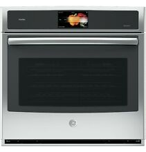 GE Profile 30  Built In Single Electric Convection Wall Oven   Smart   Stainless