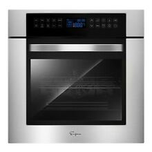 Empava 24 in Electric Single Wall Ovens 240V Built in 3400W 10 Functions Cooker