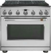 NIB GE Cafe CGY366P2MS1 36  Freestanding Professional Convection Gas Range