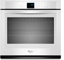 Whirlpool 27 in  Built in Single Electric Wall Oven   White 4 3 cu  ft  in