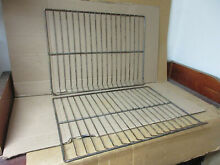 GE Range Oven Rack w  Some Wear Stains Lot of 2 Part   WB48K04