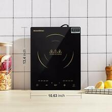 1800W Portable Induction Cooktop  Smart Sensor Touch Electric Cooking Hot Plate