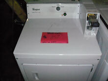 NEW WHITE WHIRLPOOL COIN OPERATED GAS DRYER CGM2743BQO NOB LOCAL PICKUP ONLY