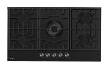 Empava 36  Gas Cooktop 5 Burners Stove NG LPG Convertible Glass Cooker GC905