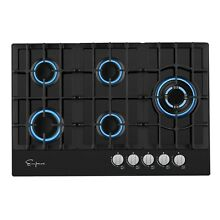 Empava 30  Gas Stove Cooktop LPG NG Convertible with 5 Italy SABAF Burners Tempe