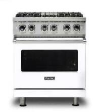 Viking 30 Inches Dual Fuel Range with TruConvec Convection Cooking VDR5304BWH