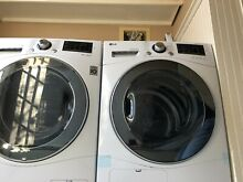 LG Front Load WM1388HW 24  Washer with DLEC888W 24  Electric Dryer Pair