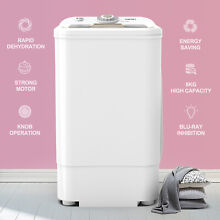 17 6 LBS Compact Spinner Mini Dryer Draining 1500 RPM Laundry Home Dorms White