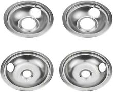 Bestong 4 pack Gas Stove Burner Covers Stove Drip Pans  for Whirlpool W10278125