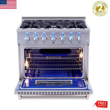 36  Gas Hob Gas Cooktop 6 Burners Stove Kitchen Stainless Steel Cooking NG LPG
