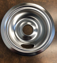 6 INCH STOVE TOP DRIP PAN AND RING  CHROME FINISH