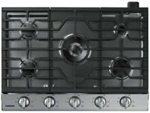 Samsung 30 in 5 Burners Stainless Steel Gas Cooktop Blue LED knobs NA30N6555TS