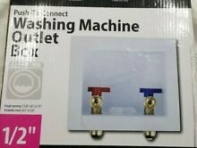 Tectite Apollo Washing Machine Outlet Box Push to Connect 1 2