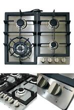 Gas Cooktop 24 in  with 4 Burners Stainless Steel Electronic Ignition Cast Iron
