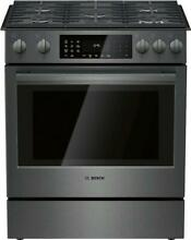 Bosch 30  Slide In Gas Range with 5 Sealed Burners  Touch Controls HGI8046UC