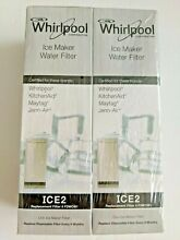 2 pack OEM Replacement for Ice Maker Water Filter Whirlpool F2WC9I1 ICE2 SEALED