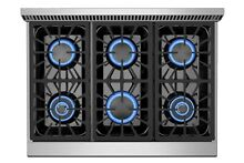 Empava 36 in  Slide in Natural Gas Rangetop with 6 Burners in Stainless Steel