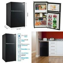 Two Door Mini Fridge with Freezer Arctic King 3 2 Cu Ft Black or Stainless Steel